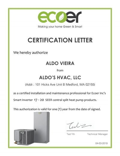 Ecoer Certification